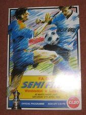 1988 FAC SEMI FINAL: WIMBLEDON v LUTON TOWN @WHITE HART LANE