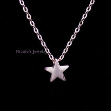18 Rose Gold Plated Cute Star Pendant Necklace NF185