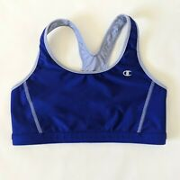 CHAMPION Sports Bra Reversible Blue Stretch Racerback Gym Run Womens Size Small