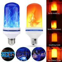 9W E27 96/108 LED Flicker Flame Light Bulb Simulated Burning Fire Effect Lamp AU