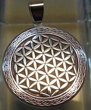 Pendant Flower of Life Amulet Jewelry 925 sterling silver (c610) Bitcoin