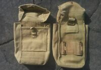 AUSTRALIAN ARMY BASIC POUCH MK1 - WEBBING 37 PATT  USED GENUINE WW2 ISSUE