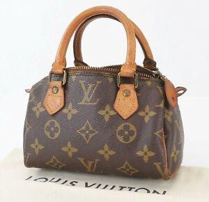 Authentic LOUIS VUITTON Speedy Mini Monogram Boston Hand Shoulder Bag #40610