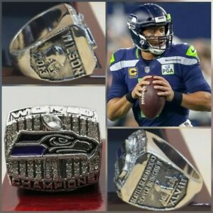2013 SEATTLE SEAHAWKS Super Bowl Championship Ring - Russell Wilson