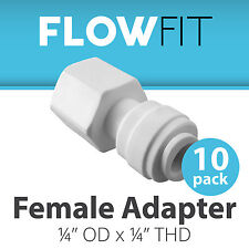 "Female Adapter 1/4"" Fitting Connection for Water Filters / RO Systems - 10 Pack"