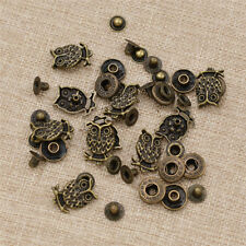 10sets Retro Owl Copper Snap Fastener Button Hardware For Clothes Bags Supplies