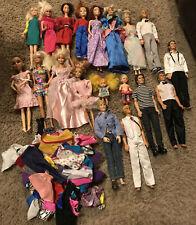 Huge Vintage Lot Barbie Ken Dolls And Clothes