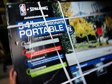 "🔥Spalding Nba 54"" Portable Angled Basketball Hoop with Polycarbonate Backboard"