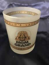 Vintage MGM Grand Hotel Casino And Theme Park Collectible glass Las Vegas Opaque
