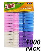 BULK 1000 x Coloured Plastic Clothes Pegs - 7cm Normal Size Laundry Clothesline