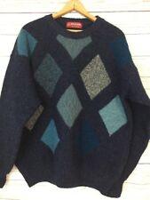 Pitlochry Knitwear Pure New Lambswool Sweater Diamond Scotland Men's Sz M