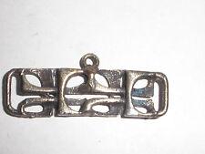 Rare Vintage modernist abstract Pendant Brutalist Handwrought Sterling Silver