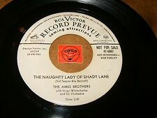 THE AMES BROTHERS - THE NAUGHTY LADY OF SHADY   / LISTEN - VOCAL GROUP POPCORN