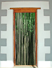 GREEN SHIMMER FOIL CURTAIN 2MX1M DOOR STAGE PARTY