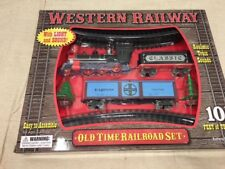 Train Set Battery Powered Western Railway Complete Set with 10 Feet of Track