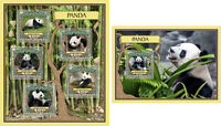 Pandas Bears Animals Fauna Guinea-Bissau MNH stamp set