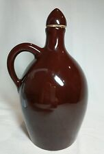 """Vintage Little Brown Jug Music Box 11"""" Tall Plays When Lifted"""