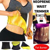 Men&Women Hot Neoprene Body Shaper Slimming Waist Trainer Trimmer Belt Girdle US