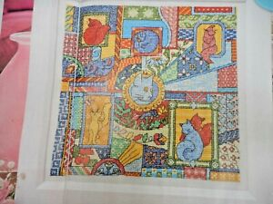 CATS SAMPLER, PATCHWORK STYLE. CROSS STITCH CHART. SELLING FOR CHARITY 🎁