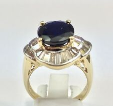 Piece Of Art Diamond And Sapphire Dinner  Lady's Ring .....MAJESTIC..