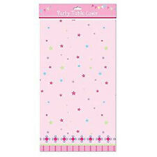 PINK CHILDRENS PLASTIC TABLE CLOTH / TABLE COVER
