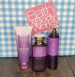 3-Piece Bath and Body Works Black Cherry Merlot Set NEW PACKAGING STYLE