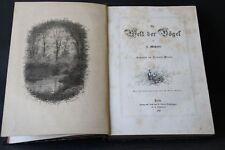 J. in-Masius il mondo degli uccelli 1870 Giacomelli