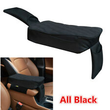 Car Interior Armrest Box Pad Hollow Cotton Black PU Leather Styling Accessories