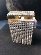 Vintage Gold & Rhinestone Covered Cigarette Boc