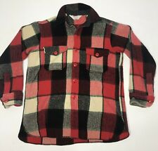 VTG Woolrich Mackinaw Wool Shirt Hunting Jacket Plaid Men Size Large Canada