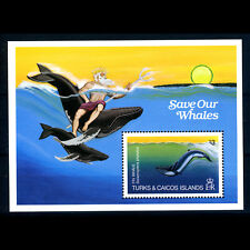 TURKS & CAICOS ISLANDS 1983 Whales. SG MS 753. Fish. Mint Never Hinged. (BH715)