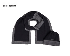 Ben Sherman Mens Benton Hat And Scarf Set