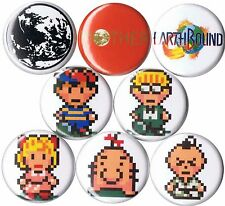 Earthbound 8 NEW pins buttons badges snes mother 2 poo ness paula dr andonuts