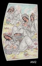 Persian Miniatures Dot painting on fiber sheet & camel bone