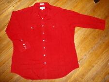 vtg SHEPLERS PEARL SNAP WESTERN SHIRT Big & Tall RED Long Sleeve 20-35 2X 3X