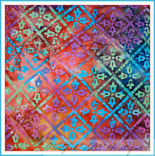BonEful Fabric FQ Cotton Quilt Flower Batik Diamond Rain*bow Hippie Groovy Girl