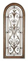 "Gorgeous 50"" ARCH Tall Metal Wall Art Plaque Grille Open Scroll Iron HORCHOW"