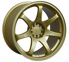 XXR 551 17X8.25 Rims 5x100/114.3MM +22 Gold Wheels Fits Civic Mazda 3 6 TC 2010+
