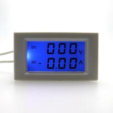 Digital Voltmeter Ammeter Volt Amp Monitor Tester LCD Blue Backlight DC 600V 10A