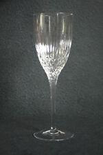 """SIGNED Rogaska Vogue Crystal 9"""" Water Goblet Cut Vertical & Crosshatch Bowl (2)"""