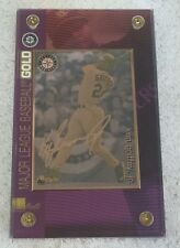 1997 Authentic Images Ken Griffey Jr 24K Gold Baseball Card Metal #d 197/750 HOF