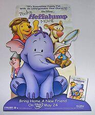 "【RARE】Vintage Pooh's Heffalump 38"" Cardboard Standee!Unused Movie Display in Box"