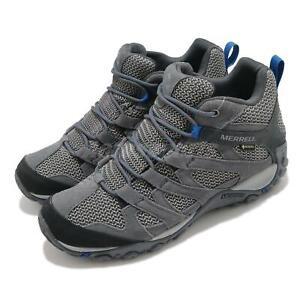 Merrell Alverstone Mid GTX Gore-Tex Grey Men Outdoors Hiking Trail Shoes J034555