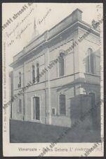 MONZA VIMERCATE 40 TEATRO UMBERTO I° Cartolina viaggiata 1905