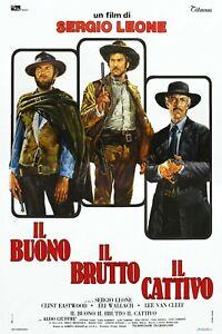 Locandina IL BUONO IL BRUTTO IL CATTIVO Sergio Leone Clint Eastwood Western