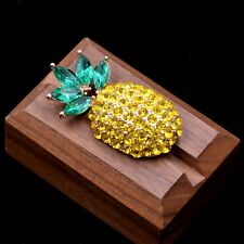 Crystal Encrusted Pineapple Brooch Pin, Cute and Fun Jewellery