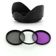 58mm UV CPL FLD Filter Kit + Petal Lens hood for Canon EOS 58mm EF-S 18-55mm