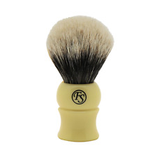 Frank Shaving Extra Density Finest Badger Shaving Brush White Handle Free Stand
