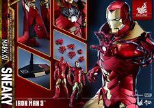 Hot Toys Iron Man Sneaky MK 15 Mark XV Retro Armor Exclusive New/Mint / SEALED!