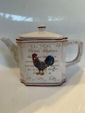 New listing MWW Market teapot Brown Leghorn and Cuckoo Maran Cockezel rooster design